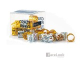 BIFULL CRAZY RINGS SILVER & GOLD ANILLAS DECORATIVAS 18 UNIDADES