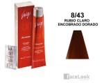 TINTE VITALITY'S ART ABSOLUTE 8/43 RUBIO CLARO ENCOBRADO DORADO 100 ML.